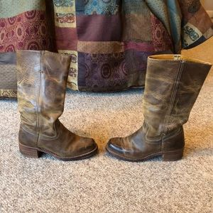 Frye distressed brown Campus boho Boots sz 8